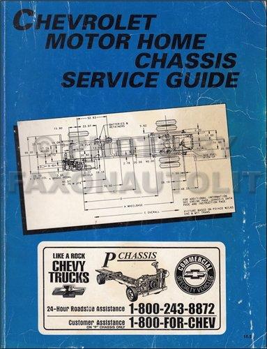 1995 Chevrolet Motorhome Repair Shop Manual Original