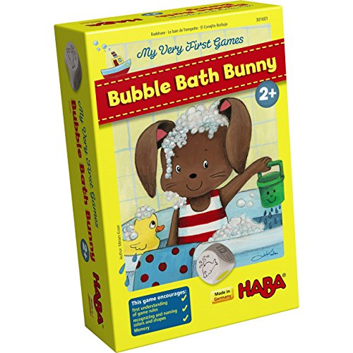 HABA My Very First Games - Bubble Bath Bunny Memory & Matching Game (Made in Germany) (Game Memory First)