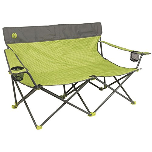 Marketworldcup-Picnic Double Folding Chair w Umbrella Table Cooler Fold Up Beach Camping Chair Premium Quality!! Brand New!