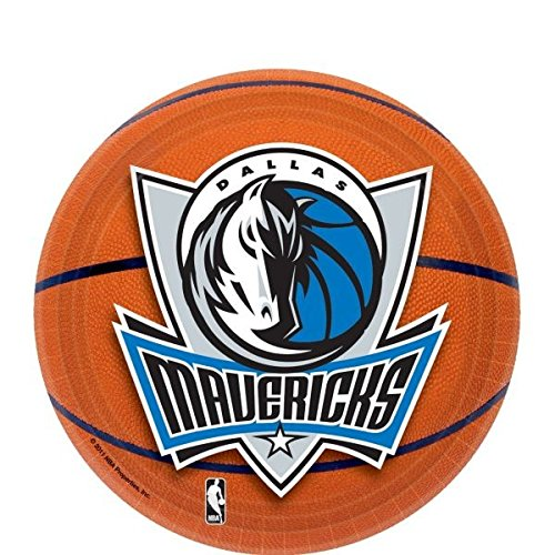 Sports and Tailgating NBA Party Dallas Mavericks Dessert Plates Tableware, Paper, 7