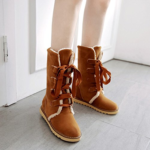 Shoes Casual Women Boots Yellow Boots Women Fashion Bandage Snow Ankle Hatop xFzqw
