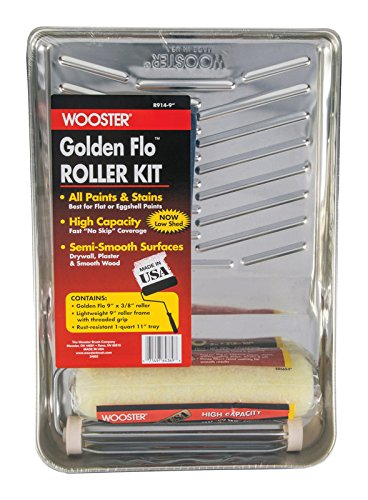 Wooster R914-9 3 Piece Kit Golden Flo Paint Roller