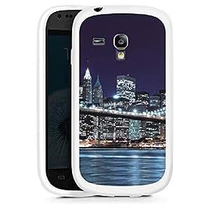 Silicona Carcasa blanco Funda para Samsung Galaxy S3 Mini - Brooklyn Bridge