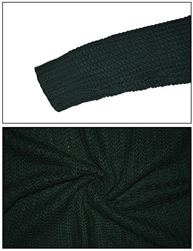 Tricot Sweaters Femme Col Chandails pour Hiver Chaud Maille Longues Manches Rond en Vert Pull 06az1wqfxW
