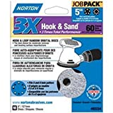 Norton ProSand MULTI-AIR 5'' Multi-Hole Pattern Hook & Sand Disc, 60 grit, 10 pack