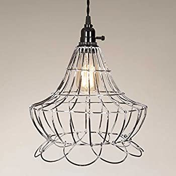 Vintage Wire Scallop Bell Pendant Lamp - - Amazon.com