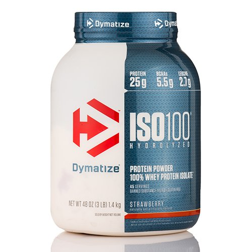 ISO-100 Hydrolyzed 100% Whey Protein Isolate, Strawberry Flavor - 48 oz (1360.7 ()
