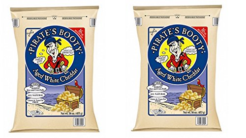Pirate's Booty Aged White Cheddar Delicious Baked Rice and Corn Puffs SET of 2 16 Oz. Bags Review