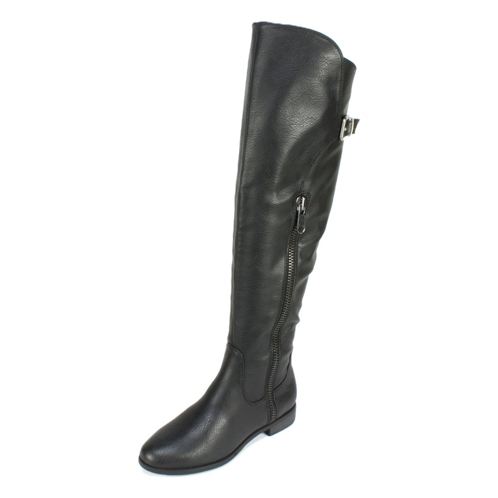 RIALTO Womens Firstrow Closed Toe Over Knee Fashion Boots, Black, Size 8.0