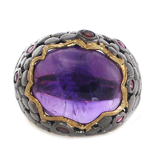 Michael Valitutti Two-tone Amethyst, Garnet and Ruby (Vogue Ruby Ring)