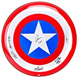 Chris Evans, Sebastian Stan, Anthony Mackie, Hayley Atwell and Stan Lee Autographed Captain America 24″ Metal Shield