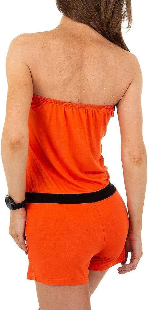 Metrofive Overall Jumpsuit Damen kurz Sommer Strandkleid Einteiler Tunnelzug Strass