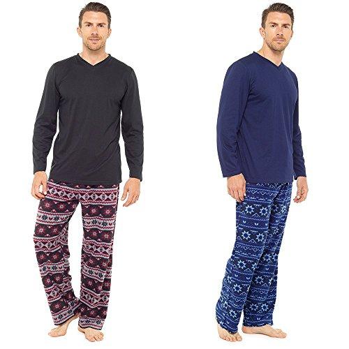 Hombres Calientes Top & Fondos De Paño Grueso Y Suave pijama pijama pijama ropa de descanso: Amazon.es: Ropa y accesorios