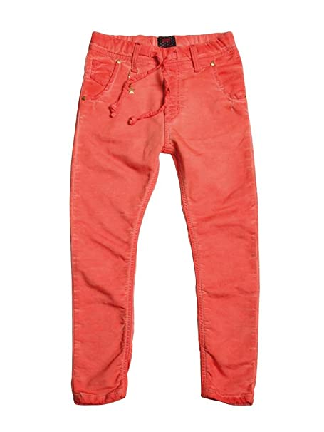 Carrera Jeans - Jogger vaqueros 750 para niña, estilo recto, color liso, interior