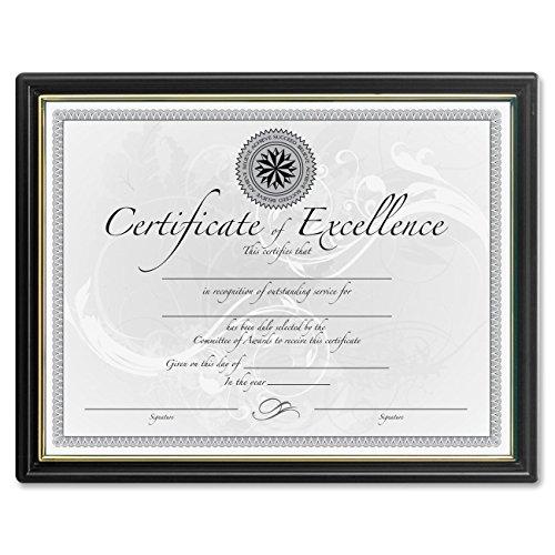 DAX Black & Gold Certificate Frames - 8.50