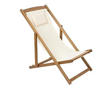 Scaramuzza Modo Chaise Longue Relax En Bois Et Toile