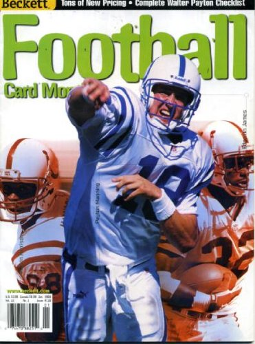 (Beckett Football Card Monthly January 2000 Peyton Manning/Indianapolis Colts on Cover, John Elway/Denver Broncos (on back cover), Walter Payton/Chicago Bears Checklist)