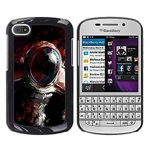 Caucho caso de Shell duro de la cubierta de accesorios de protección BY RAYDREAMMM - BlackBerry Q10 - Pintura al óleo Cosmonauta