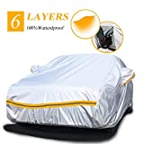 Car Covers Waterproof,Car Cover for Sedan 6 Layers Outdoor Protection...