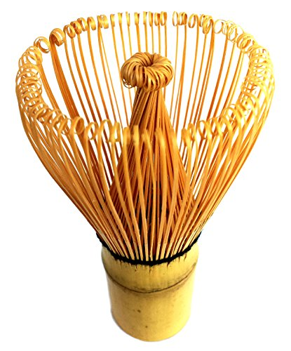 HARU MATCHA - MADE IN JAPAN - Traditional Handcarved Golden Bamboo Matcha Whisk (100 Prongs) by Haru Matcha (Image #1)
