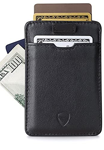 10. Chelsea Slim Card Sleeve Wallet with RFID Protection by Vaultskin – Top Quality Italian Leather - Ultra Thin Card Holder Design For Up To 10 Cards