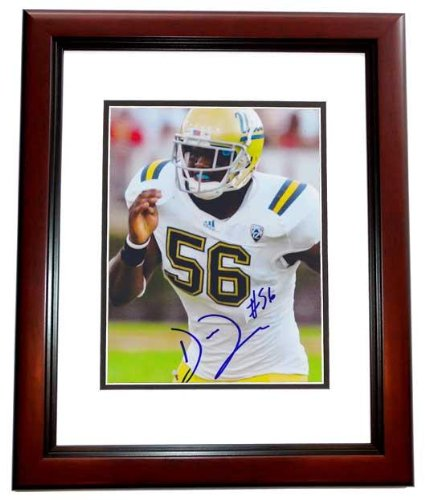 Datone Jones Signed - Autographed UCLA Bruins 8x10 inch Photo MAHOGANY CUSTOM FRAME - Guaranteed to pass or JSA - Green Bay Packers - PSA/DNA - 10 Northridge