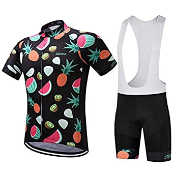 550c6a065 Image Unavailable. Image not available for. Color  2018 SUREA Cycling  Clothing Ropa Ciclismo Short Sleeve Summer Breathable Men s ...