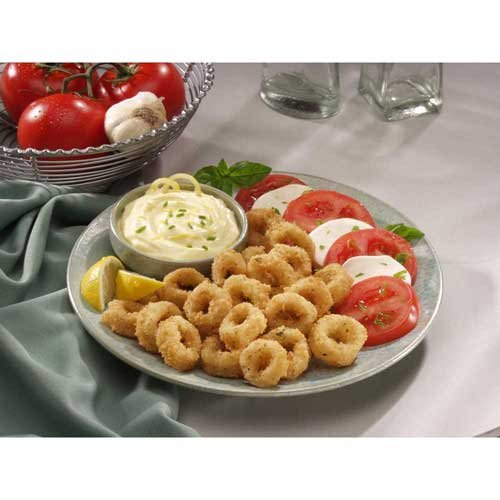 King and Prince Breaded Calamari Ring, 2.5 Pound -- 4 per case.