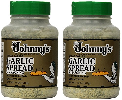 Johnnys Garlic Spread and Seasoning, 2Pack (18 Ounce) (Johnnys Seasoning)