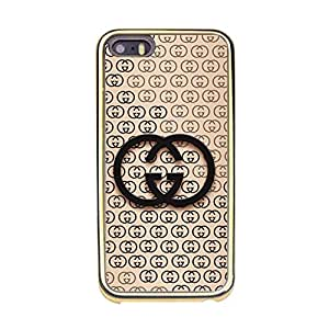 Custom Luxury Gucci Pattern Protect Case(Gold Plastic) Fantastic Design Iphone 5/5s Protect Case