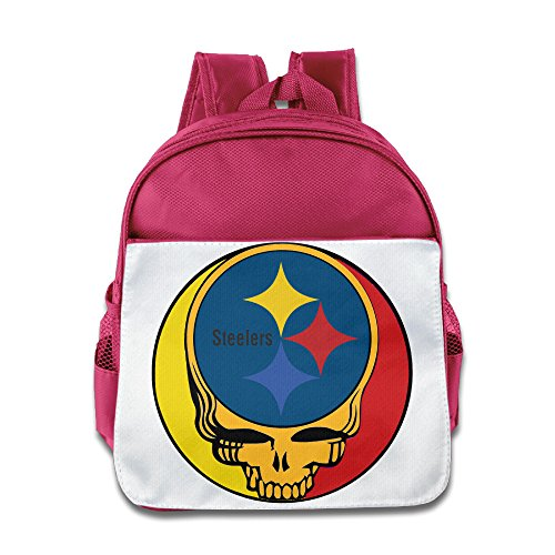 One Year Later Robin Costume (HYRONE Pittsburgh Skull Steelers Kids School Bagpack Bag For 1-6 Years Old Pink)