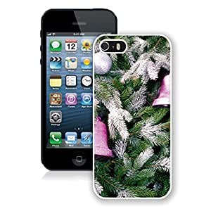 2014 New Style Christmas Tree Decoration Of Jingling Bell Iphone 5s Case,Phone Case For Iphone 5,Iphone 5 White TPU Cover