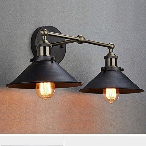 truelite industrial vintage simplicity edison 2light aged steel retro wall sconce - Farmhouse Light Fixtures
