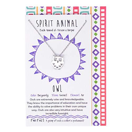 (Shag Wear Women's Pewter Spirit Animal Pendant Necklace with Gift Envelope (Elephant) )