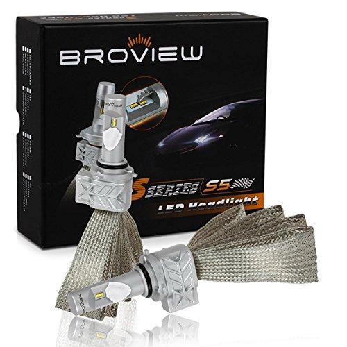 BROVIEW S5 9006 HB4 High Power LED Low beam Headlight Conversion kit,Meeting beam Headlight Kit, Fog light,8000 LM Bulb Kit - (2pcs/set) (2002 Jeep Grand Cherokee Overland Owners Manual)