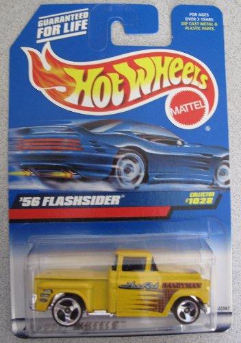 Hot Wheels 1998 '56 Flashsider Truck Yellow #1028 Hot Rod Handyman Hot Rod Truck