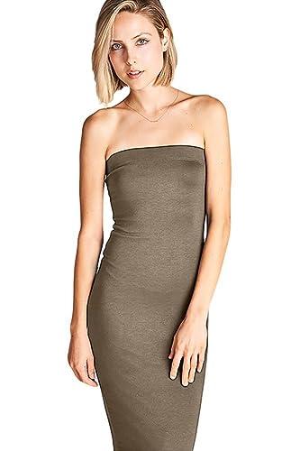 L21 Women's Basic Strapless Bodycon Tube Mini Dress
