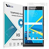 (US) BlackBerry Priv Screen Protector, Full Screen Coverage 9H-Hardness Tempered Glass Screen Protector, Vikoo Ultra-thin Shatterproof Anti-Scratch HD Clear Ballistic Glass Screen Protector(White)