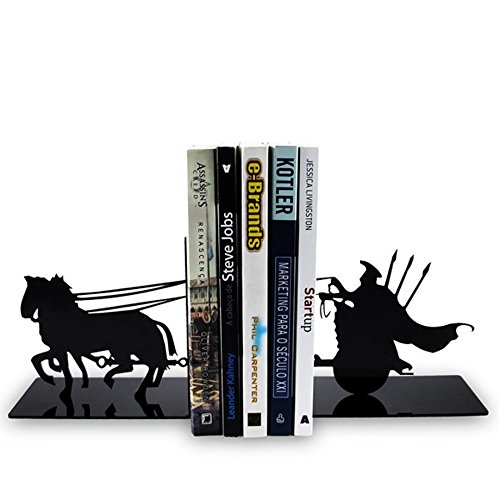 Suporte Aparador De Livros Dvd Cd Cavaleiro Gladiador Rpg