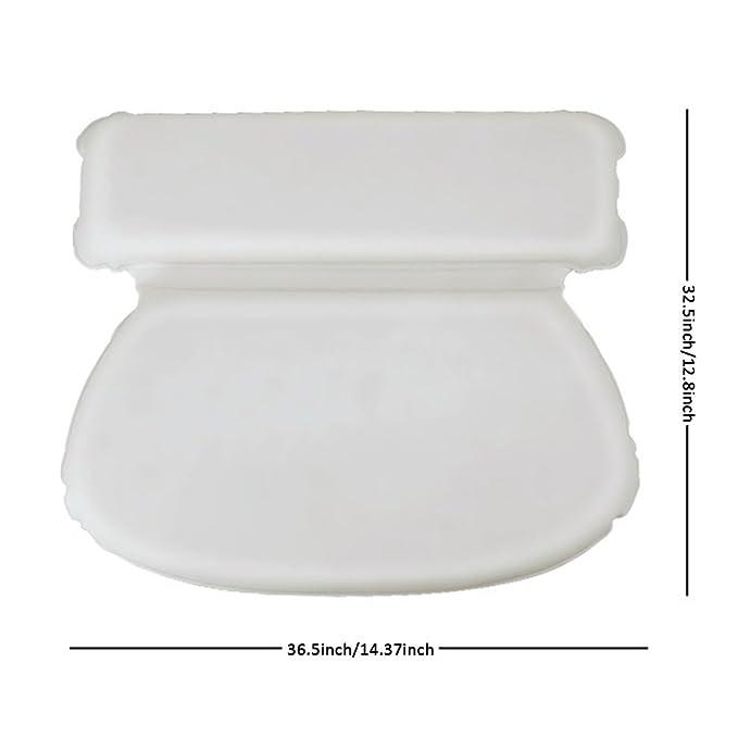 kati-way Almohada de baño, esponja de espuma de poliuretano, impermeable y suave, antideslizante, almohada de spa para bañera, bañera y bañera, ...