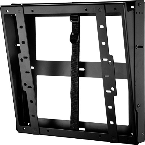 Peerless DST660 Flat/Tilt Wall Mount with Media Device Storage, Black by Peerless