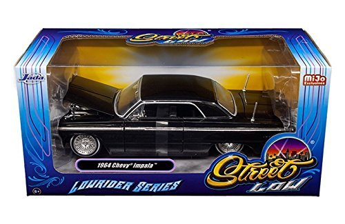 (1964 Chevrolet Impala Black Lowrider Series 1/24 Diecast Car Model By Jada)