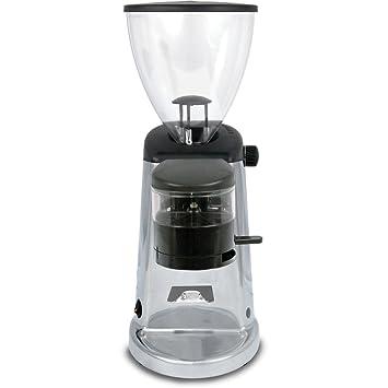 doserless eléctrico soporte de molinillo de café de fresas acabado: aluminio pulido: Amazon.es: Hogar