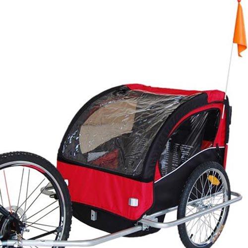 Amazon.com: Veelar Children Bicycle Trailer Jogging Stroller Combo 2 in 1 Red/Black 50201。: Baby