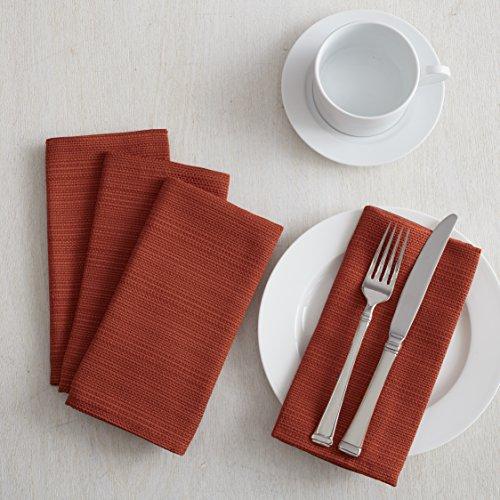 Textured Fabric Set of 4 Napkins (18