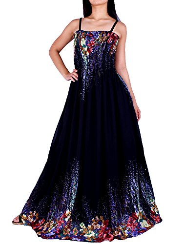 MayriDress Maxi Dress Plus Size Clothing Black Ball Gala Party Sundress Designer (2X, Black/Colorful Floral) (Cruise Size Dress Plus Maxi)