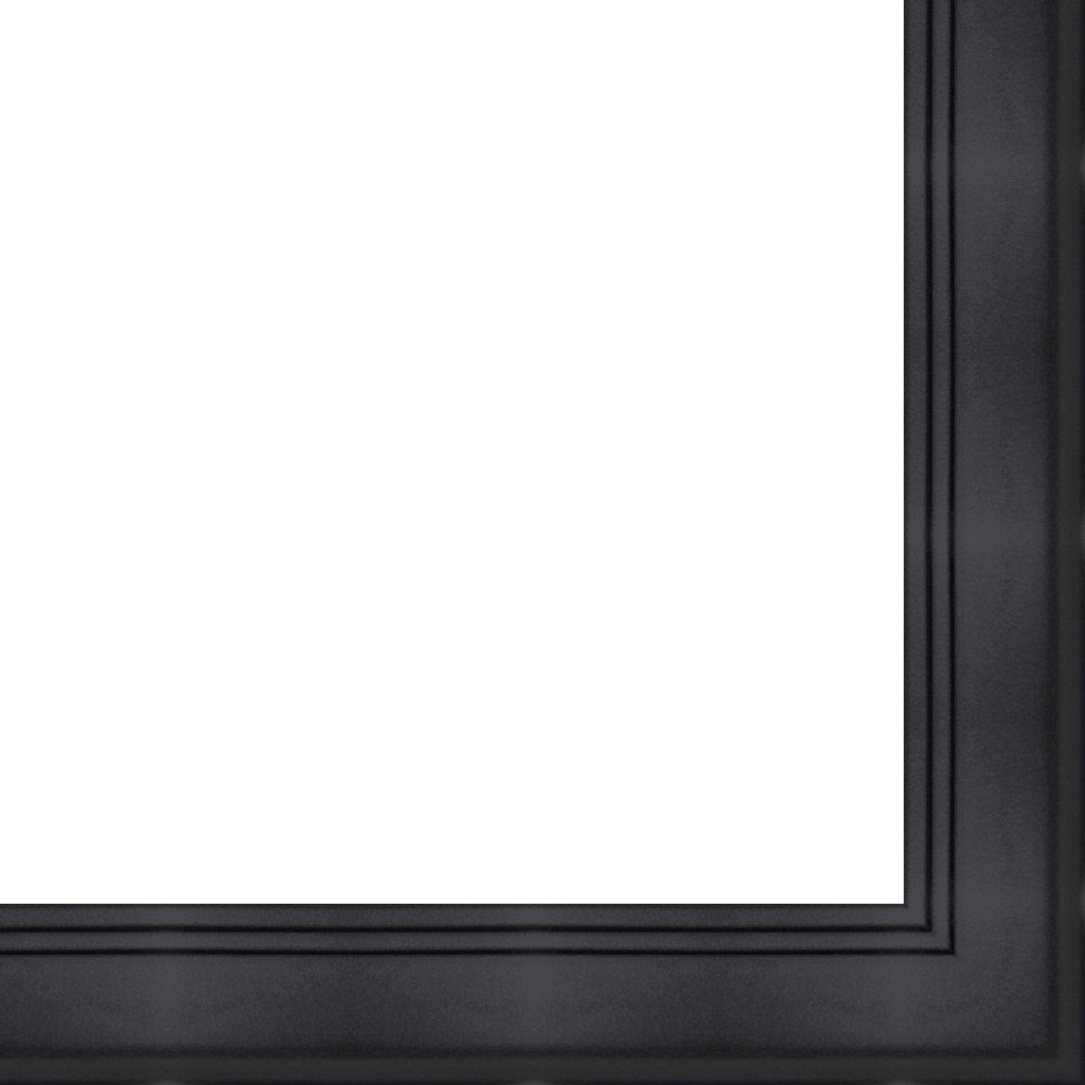 27x40 - 27 x 40 Contemporary Black Solid Wood Frame with UV Framer's Acrylic & Foam Board Backing - Great For a Photo, Poster, Painting, Document, or Mirror