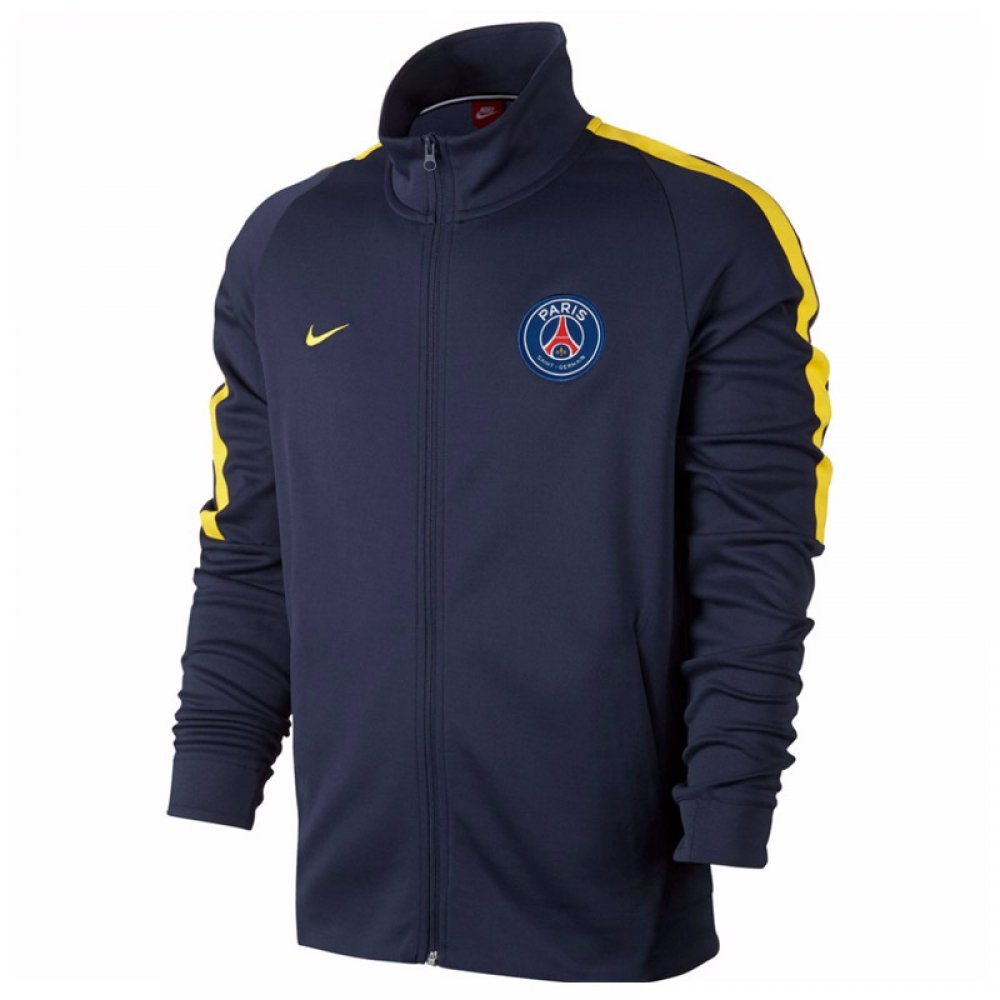 2017-2018 PSG Nike Authentic Franchise Jacket (Navy) B073WQXQRZNavy Large 42-44\