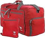 bago Travel Duffle Bag For Women & Men - Foldable Duffel Bag For Luggage Gym Sports (Medium 23'', Red)