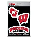 wisconsin badgers auto - NCAA Wisconsin Badgers Team Decal, 3-Pack